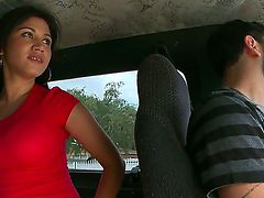 This guy was driving the bang bus when suddenly saw this so cute Latina mature hottie. He decided...