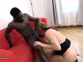 Step mom fucks my black teacher swallows cum blowjob