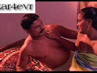 Classic Indian plumb mallu aunty enjoyed nude on bed nice ass