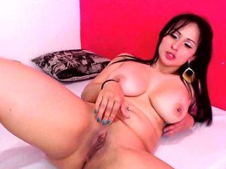 Busty Big Butt Latin MILF Live Cam Masturbation