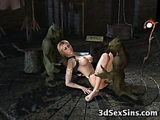3D Trolls Fuck Hot Girls