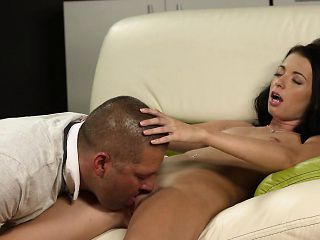 Fervid nympho stretches tight vagina and loses virginity