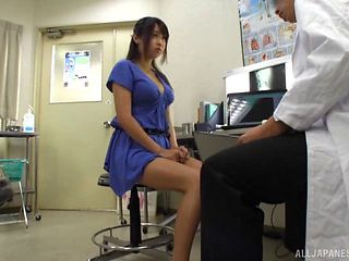 Dirty doctor pounds cock into his cute Japanese patient