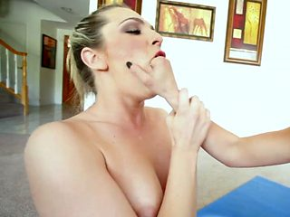 Blonde sluts sucking cock and playing with toy
