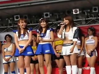hot Japanese car show girls