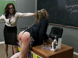 Something kinky is happening in the school for scandals with naughty classroom antics with France...
