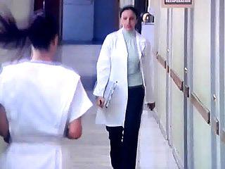 Nurse catches woman giving blowjob