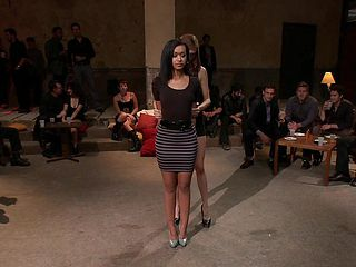 Beautiful model is pushed to her limits