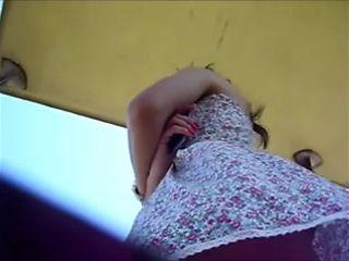 Circling Her Hidden Upskirt Clip