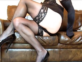 Lisa long legs in black nylons and heels (3)
