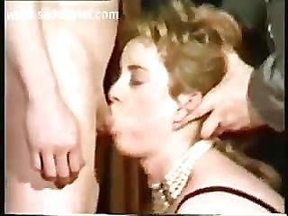 Shy slave with beautiful body is forced to give a blowjob and got spanked on her ass while her ma...