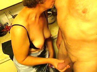 grandma sucking nipples and Jerkoff Part 2