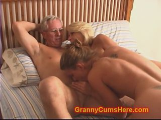 Granny and Grandpa fuck Daughter and Son