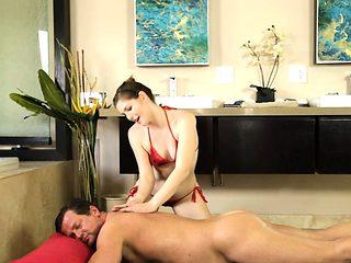 Sexy masseuse Ella Nova erotic pounding after giving massage