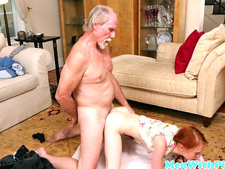 Petite Ginger Teen Pussydrilled By Old Man