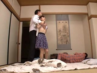 Housewife Yuu Kawakami Fucked Hard While Another Man Watches