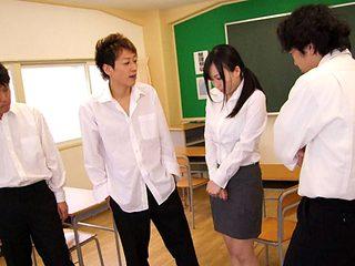 Nozomi Hazuki in Nasty teacher Nozomi Hazuki gets a few big meat poles - AviDolz