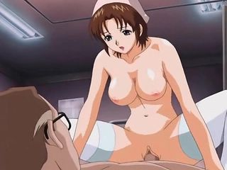 Old guy fucks a busty anime nurse hardcore 2