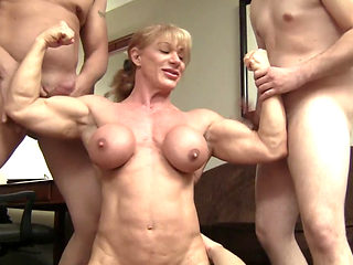 Buff Milf Vs 3 Cocks