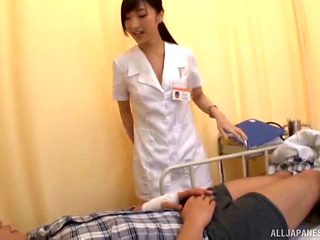 Being fucked by a randy patient is what a cute nurse craves
