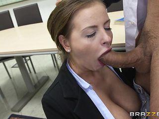 schoolgirl sucks her classmate