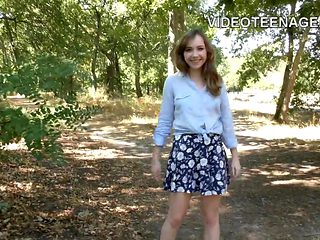 amateur teen does first porn casting