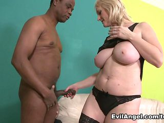 Amazing pornstar Monika Wipper in Best Interracial, Stockings porn movie