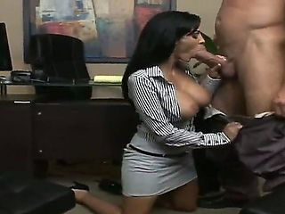 Sexy boss Billy Glide having fun with his ultra sexy and busty secretary Veronica Rayne