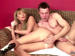 Hot Step-mom Fucked And Facialized By Young Boy