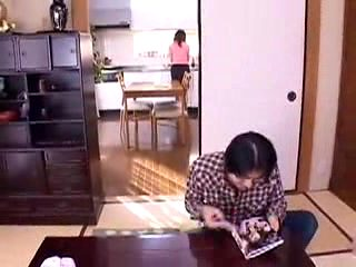 Lustful Asian housewives seize the chance to have sex with
