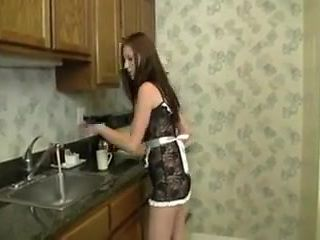 Cute Maid Gives talented HJ and Gets Cream for Her Coffee