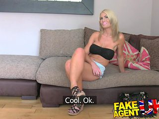 FakeAgentUK: Busty MILF and her magic pussy causes premature problems