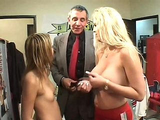 Cute playgirl seduces teacher and bonks him passionately