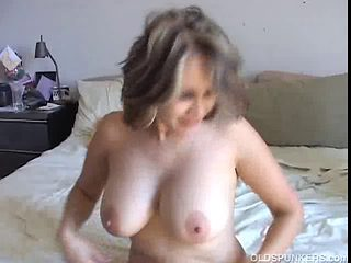 Hot aged mexican enjoys a hard fuck and a large old facial
