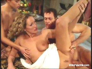 Classic Roman orgy with breathtaking beauties