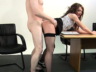 British CFNM femdom queens her submissive
