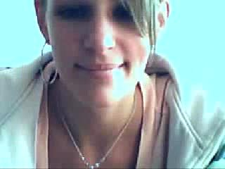 German Blonde shows Tits and Clit