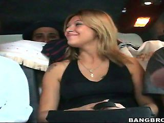 Heres more amazing amateur Latina ass! The guys from Bang Bus hook blonde Cristina with a shy loo...