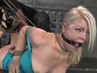 Sweetest blonde is stripped naked and tied up tight and good
