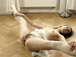 Sexy Anna is very flexible and knows how to tease the horny guys