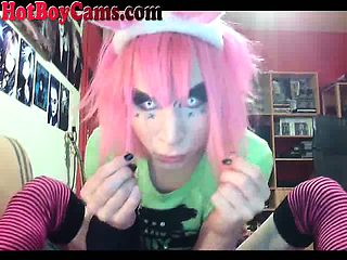 Hot Emo Femboy On Webcam