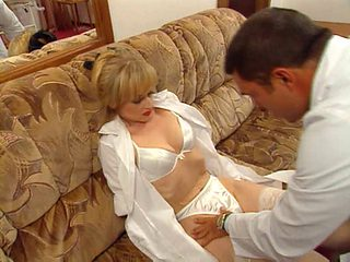 Vintage clip of a French babe fucked by a gynecologist