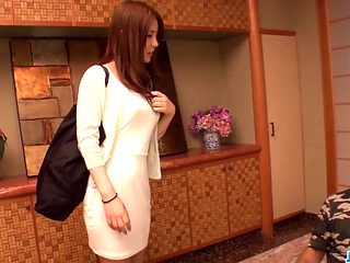 Aya Saito feels sexually excited and aroused along 2 studs