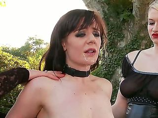 The degradation of French maid Samantha Bentley under the brutal tutelage of her mistresses Lady ...
