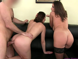 Mona Gets Threesome Sex At The Casting
