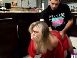 Horny Blond Getting Force Fucked