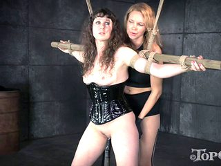 Mistress with a strap-on penetrates the beaver of her slave