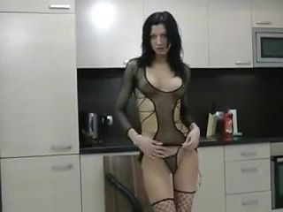 Brutal anal dildo ride