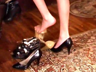 Nylon and foot worship 1