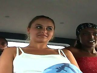 Today the guys from the Bang Bus team got lucky with two naughty bitches. They are going to enter...
